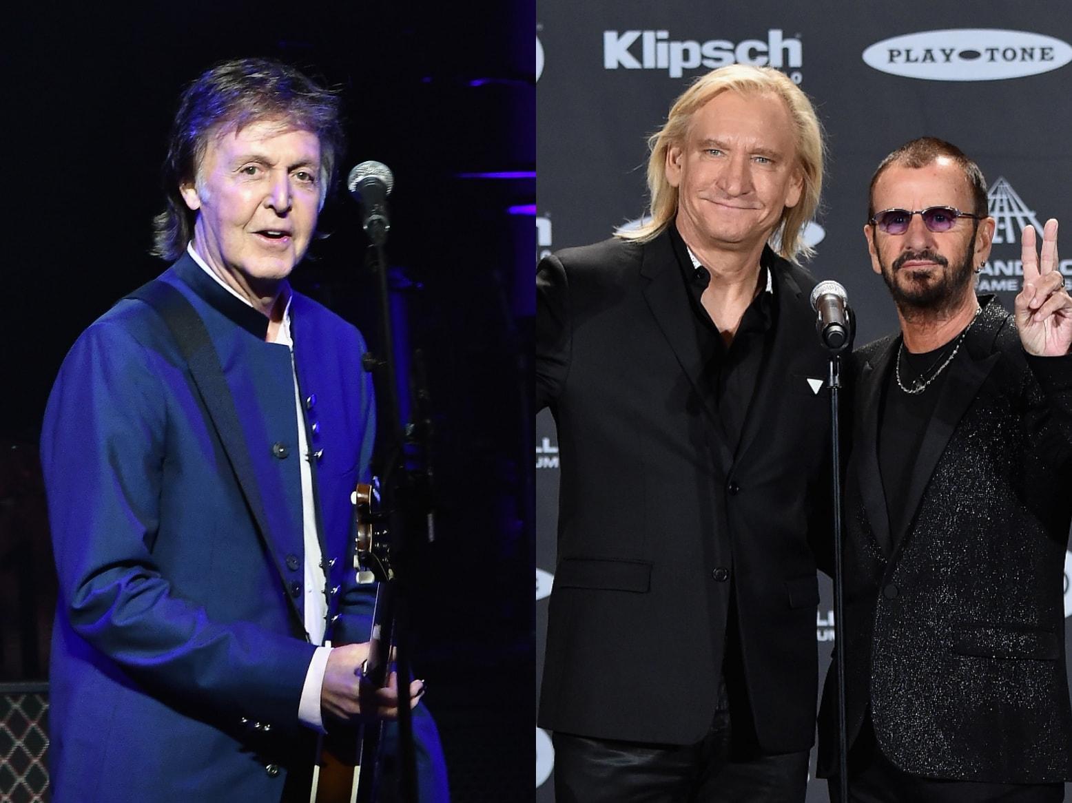 Paul Mccartney Joined By Ringo Starr Joe Walsh At Dodger